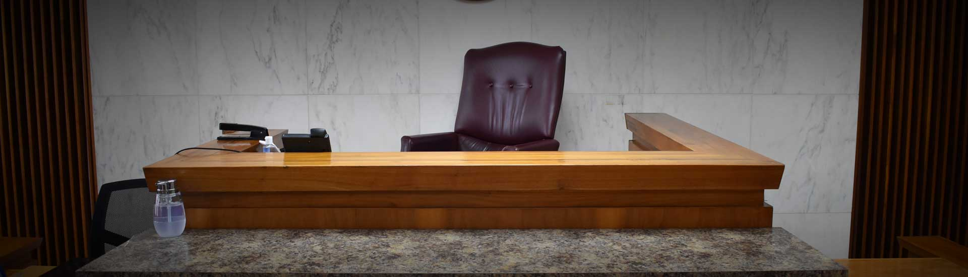 Cullman County Distric Courtroom Bench